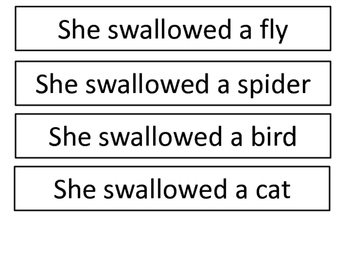 Old Lady Who Swallowed A Fly Sequencing