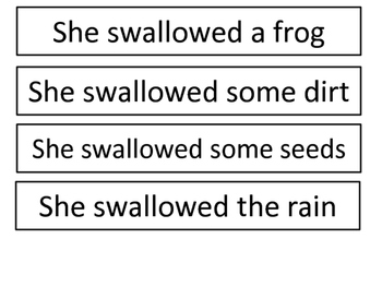 Old Lady Who Swallowed A Frog Sequencing