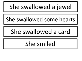 Old Lady Who Swallowed A Rose Sequencing