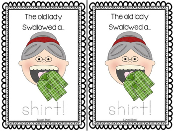 Old Lady Who Swallowed Leaves Emergent Reader & Centers