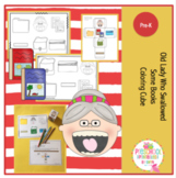 Old Lady Who Swallowed Some Books Coloring Cube