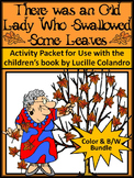 Old Lady Who Swallowed Some Leaves Fall ELA Activities Bundle - Color&BW