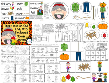 Old Lady Who Swallowed Some Leaves Essential Questions/Story Retelling Pack