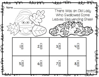 There Was an Old Lady Who Swallowed Some Leaves Retelling Pack