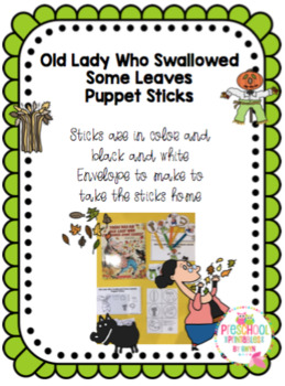 Old Lady Who Swallowed Some Leaves Puppet Sticks
