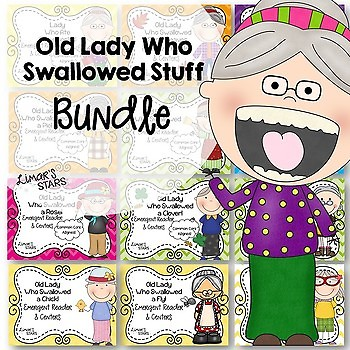 Old Lady Who Swallowed Stuff BUNDLE