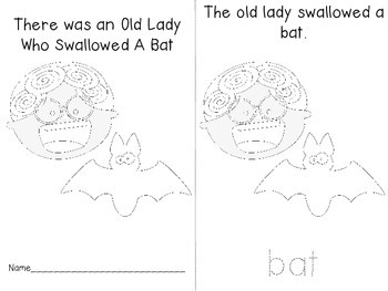 Old Lady Who Swallowed a Bat Activities