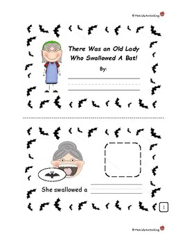 Old Lady Who Swallowed a Bat Booklet