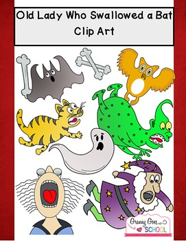 Old Lady Who Swallowed a Bat: Clip Art