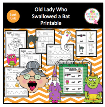 Old Lady Who Swallowed a Bat Printable