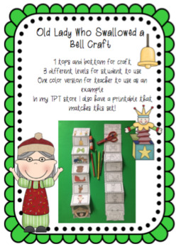 Old Lady Who Swallowed a Bell Craft