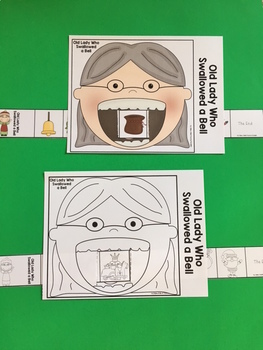 Old Lady Who Swallowed a Bell Sequencing Strip