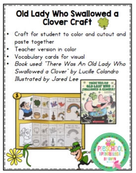 Old Lady Who Swallowed a Clover Craft
