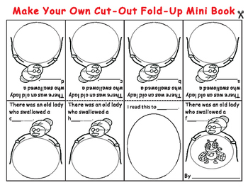 Cut-Out Fold-Up Book: Old Lady Who Swallowed a Fly