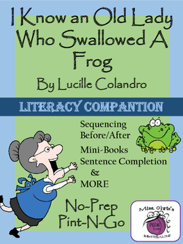 Old Lady Who Swallowed a Frog Literacy Companion Many Lang