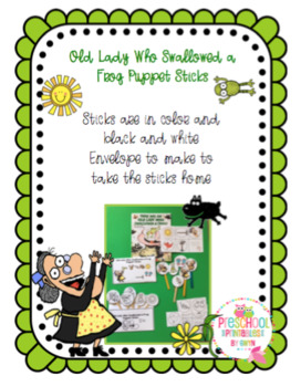 Old Lady Who Swallowed a Frog Puppet Sticks