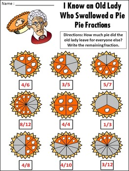 Thanksgiving Reading Activities: Old Lady Who Swallowed a Pie Activity Packet