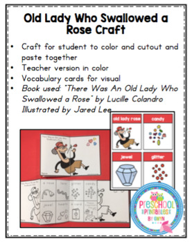 Old Lady Who Swallowed a Rose Craft
