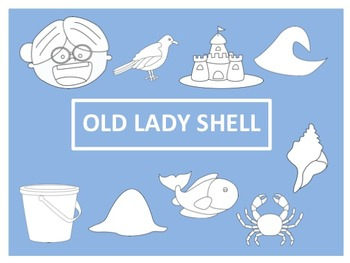 There Was an Old Lady Who Swallowed a Shell Clip Art