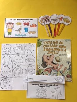 Old Lady Who Swallowed a Shell Envelope Craft