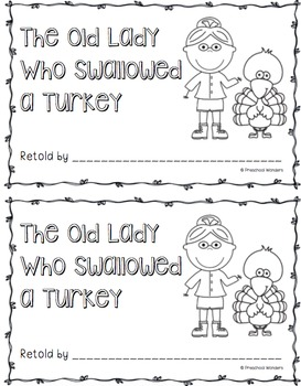 There Was an Old Lady Who Swallowed a Turkey Retelling Pack