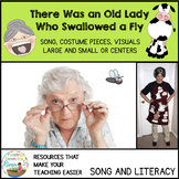 There was an Old Lady Who Swallowed a  Fly song/Costume/Visuals/Sequencing Cards