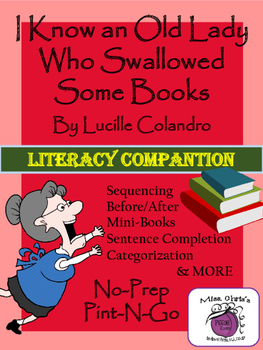 Old Lady who Swallowed Some Books Literacy Companion - Langauge