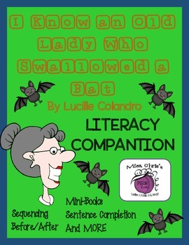 Old Lady who Swallowed a BAT Lit. Companion Lots of fun Activities