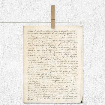 Old Letters Digital Paper, Vintage Handwriting Letters, Antique Backgrounds