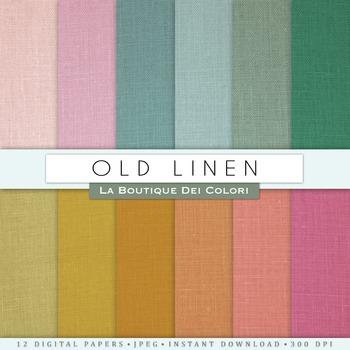 Old Linen Digital Paper, scrapbook backgrounds