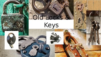 Old Locks and Keys Photobank for Drawing and Painting
