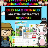 Old Mac Donald Interactive Book &  Resources for Autism /
