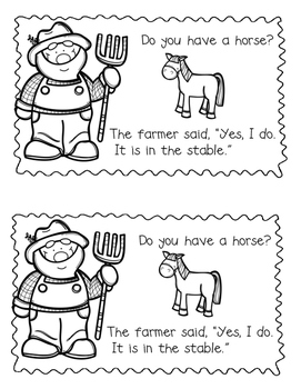Down on the  Farm Emergent Reader {Sight Word:  Do}