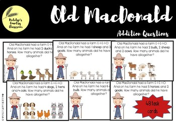 Old MacDonald Addition Questions