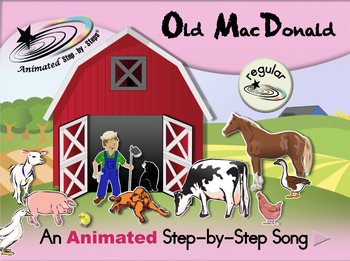 Old MacDonald - Animated Step-by-Step Song - Regular