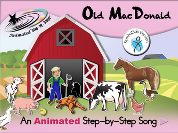 Old MacDonald - Animated Step-by-Step Song - SymbolStix