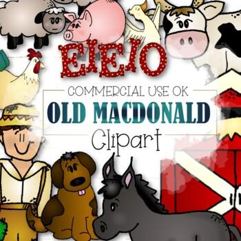 Old MacDonald Clipart - (CU and CU4CU OK)