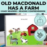 Old MacDonald Emergent Reader + Reading Comprehension