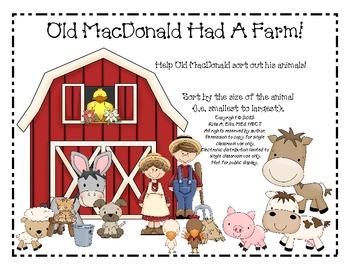 Old MacDonald Farm Size Sort