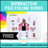 FREE Old MacDonald Interactive Song Speech Therapy