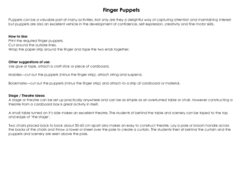 Old MacDonald Finger Puppets