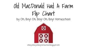 Old MacDonald Had A Farm Flip Chart