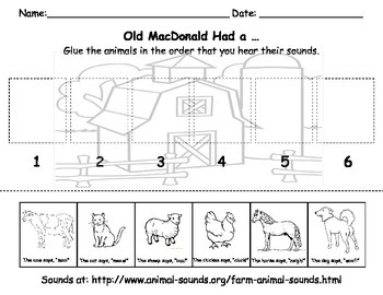Old MacDonald Had a ...  - Animal Sounds - Fives Senses - Hearing