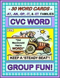 """Old MacDonald Had a Word!"" - 30 CVC Words in a Group Game with a 'Beat'!"