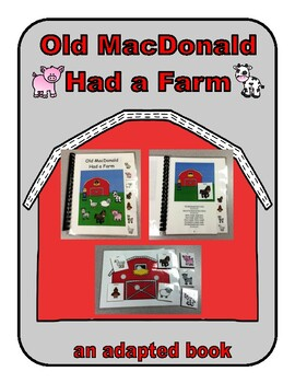 Old MacDonald Had a Farm ADAPTED VELCRO BOOK, SPEECH THERAPY, Autism