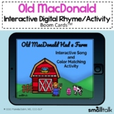 Old MacDonald Had a Farm - BOOM CARDS™ Song +  Color Match