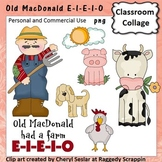 Old MacDonald Had a Farm Clip Art personal & commercial use C Seslar