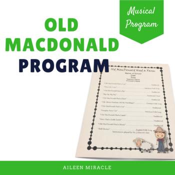Old MacDonald Had a Farm Musical Program