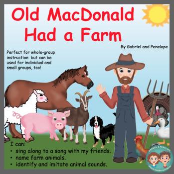 Old MacDonald Had a Farm No Print No Prep