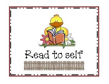 Old MacDonald Had a Farm Readers Workshop Signs